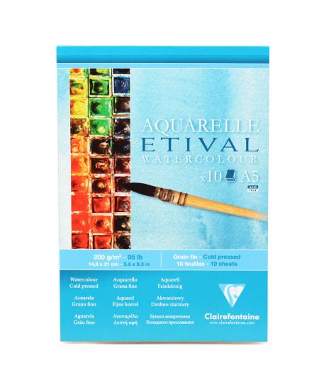 Papel Para Aquarela Etival A5 200g Clairefontaine