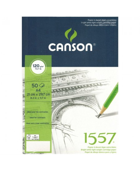 Bloco de Papel Sketchbook Canson 1557 A4 120g/m²