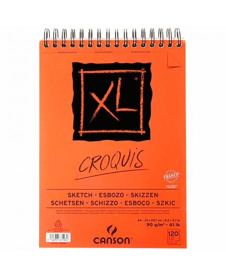 Bloco de Papel Canson XL Croquis 90g/m² A4