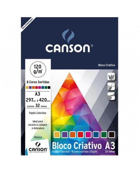 Papel Colorido Criativo Canson Cards 120 g/m²  A3