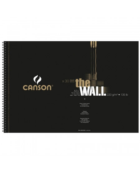 Bloco Papel The Wall Canson A3+ 220g/m² 30 Folhas