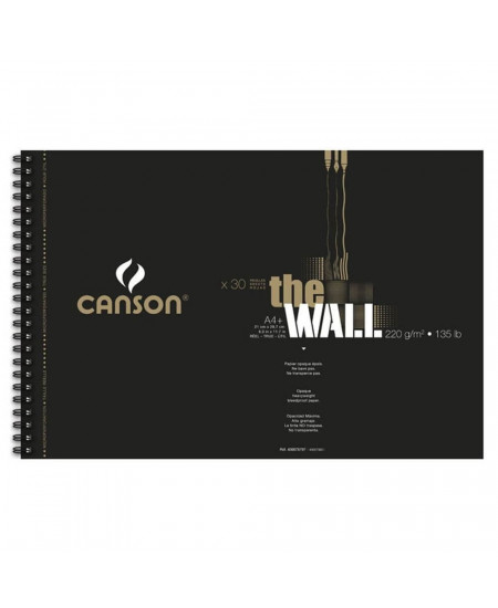 Bloco Papel The Wall Canson A4+ 220g/m² 30 Folhas