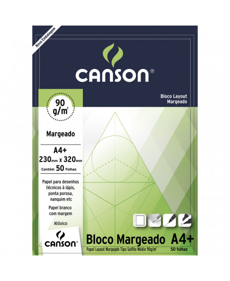 Bloco de Papel Layout Margeado Canson 90g/m² A4