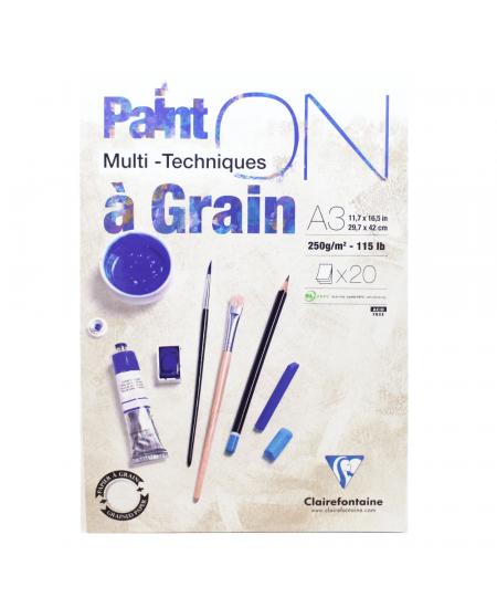 Papel Multi Técnicas Paint On A3 Clairefontaine