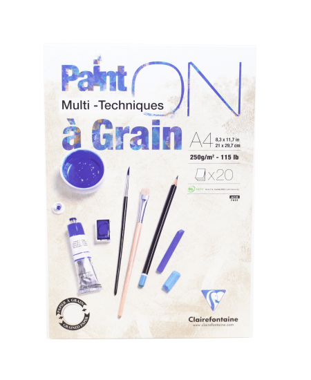 Papel Multi Técnicas Paint On A4 Clairefontaine