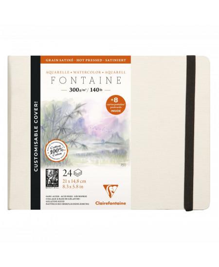 Papel Para Aquarela Fontaine 21x14,8cm Clairefontaine