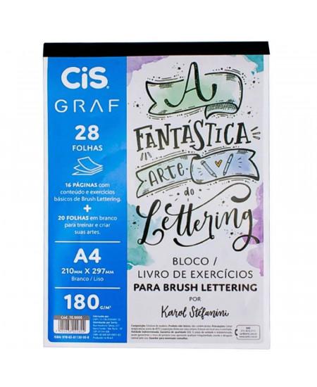 Bloco / Livro de Exercícios Para Lettering CIS A4 180g/m² 28 Folhas (Default)