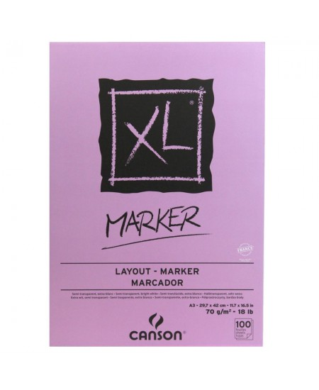 Bloco Para Marcador Canson XL Marquer A3 70g/m² 100 Fl.