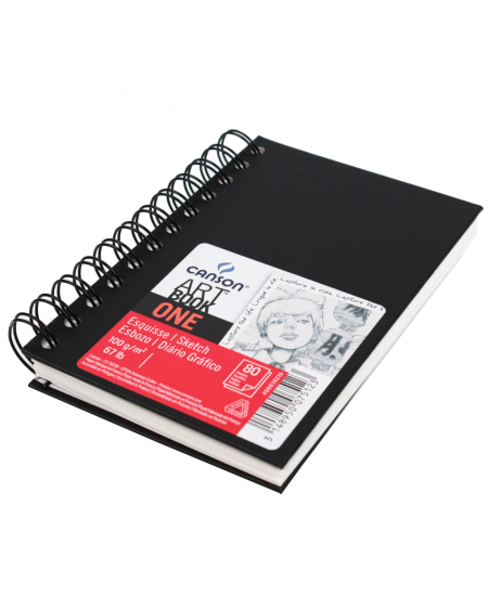 Bloco Sketchbook Espiral Canson One A4 21,6x27,9cm