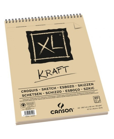 Bloco de Papel Canson XL Kraft 90g/m² A4