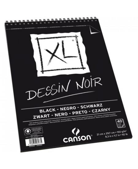 Bloco de Papel Negro Canson XL 150g/m² A4
