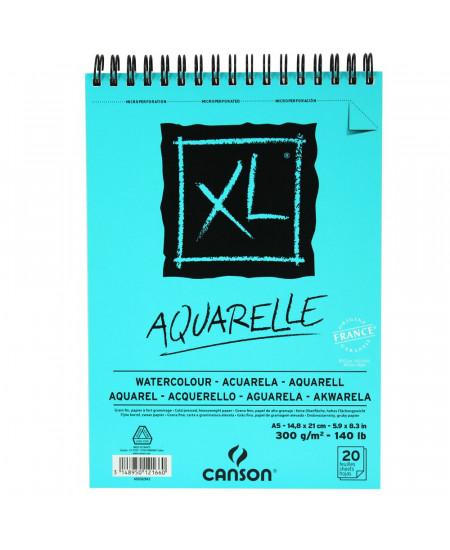 Bloco de Papel Canson XL Aquarelle 300g/m² A5