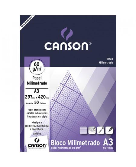 Bloco de Papel Milimetrado A3 Canson 60g/m²