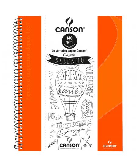 Caderno Para Desenho Canson A4 40 Folhas - Laranja