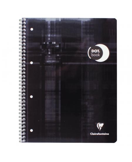 Caderno Pontilhado Dot Book Clairefontaine A4+ Preto