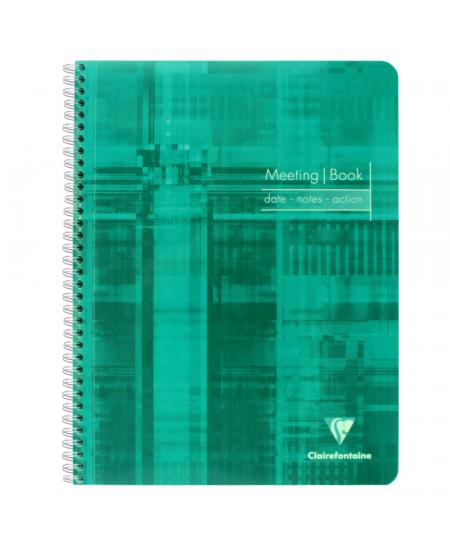 Caderno de Anotações Meeting Book Clairefontaine A4+ Preto