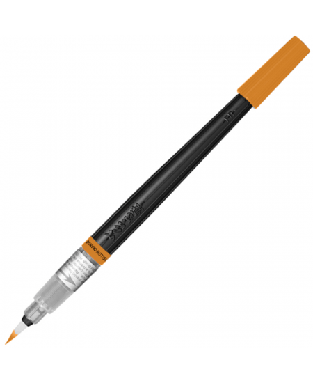 Caneta Pincel Aquarela Color Brush Pentel Yellow Orange 140