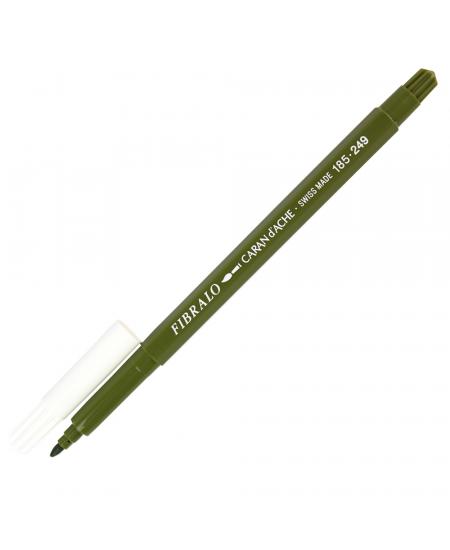 Caneta Aquarelável Fibralo Caran d'Ache Verde Musgo 249