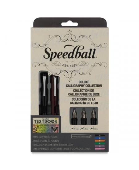Estojo Luxo Caligrafia Caneta Tinteiro Speedball 2904