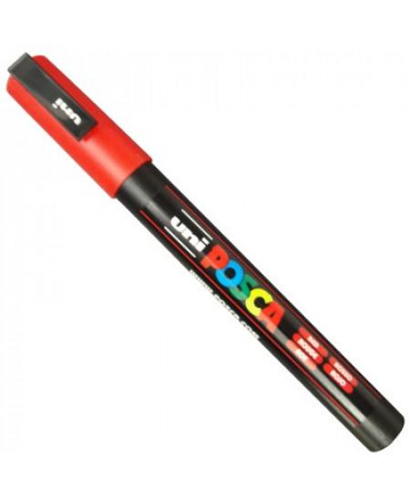 Caneta Posca Uni Ball PC-3M Vermelho