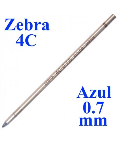 Carga de Caneta Zebra 4C Azul Esferográfica