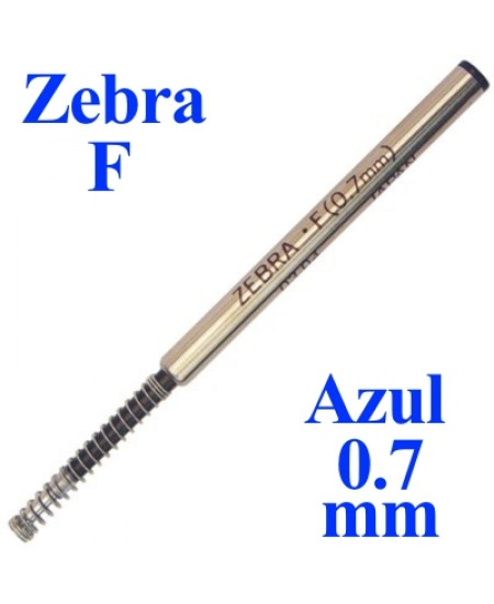 Carga de Caneta Zebra F Azul Esferográfica