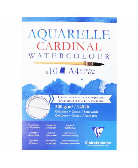 Bloco de Papel Para Aquarela Cardinal A4 300g Clairefontaine