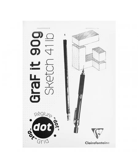 Bloco de Papel Para Desenho Graf It DOT A5 80 Folhas Clairefontaine