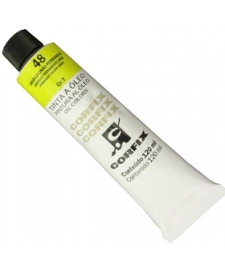 Tinta a Óleo Corfix 120ml 048 Amarelo Limão Permanente
