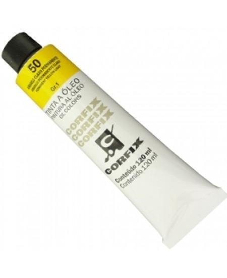 Tinta a Óleo Corfix 120ml 050 Amarelo Claro Permanente