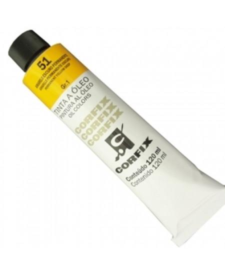 Tinta a Óleo Corfix 120ml 051 Amarelo Escuro Permanente