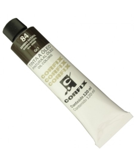 Tinta a Óleo Corfix 120ml 084 Sombra Natural