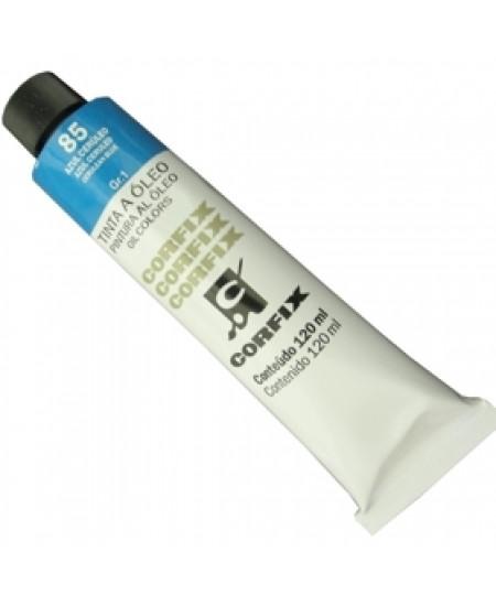 Tinta a Óleo Corfix 120ml 085 Azul Ceruleo