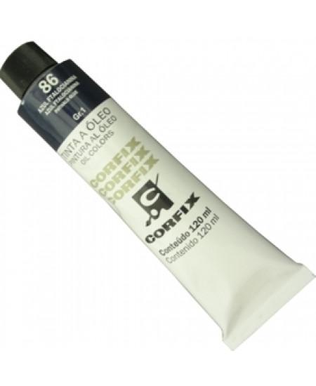 Tinta a Óleo Corfix 120ml 086 Azul Ftalocianina
