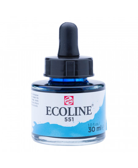 Aquarela Líquida Ecoline Talens 30ml 551 Sky Blue Light