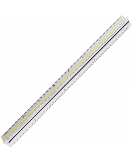 Escalímetro Triangular Metálico Tris 15cm
