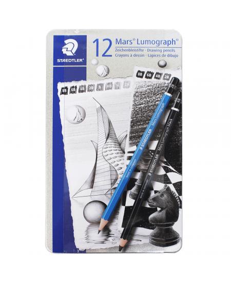 Estojo de Lápis Staedtler Mars Lumograph + Black