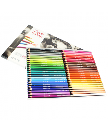 Lápis Pastel Seco Conté à Paris Estojo 48 Cores