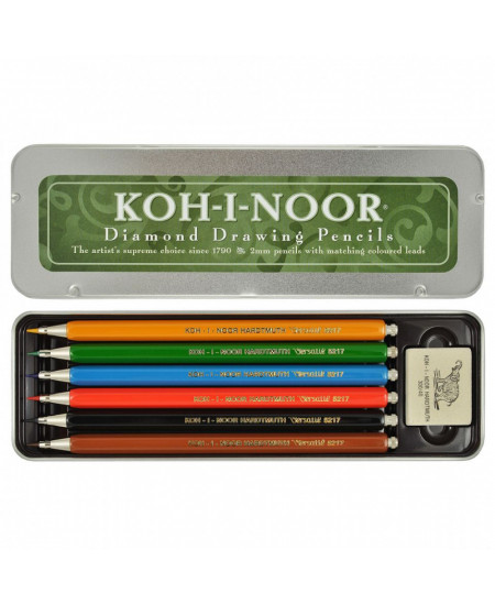 Estojo de Lapiseira Coloridas Koh-I-Noor Versátil 5217 - Edição Colecionador
