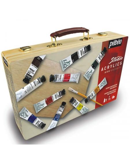 Estojo Tinta Acrílica Importada Pebeo Starter Case