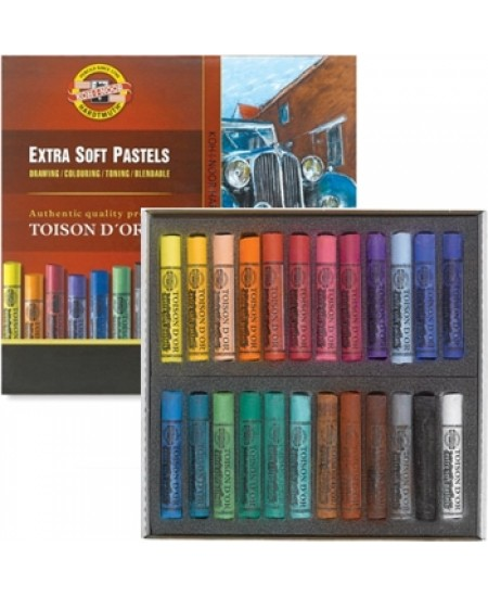 Pastel Seco Koh-I-Noor Extra Soft 24 cores 8554