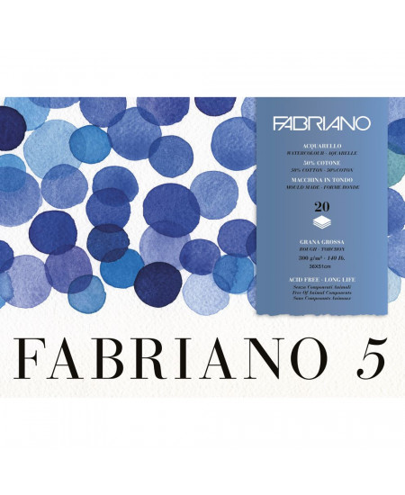 Bloco de Papel Para Aquarela Fabriano 5 GG 300g/m² 36X51cm