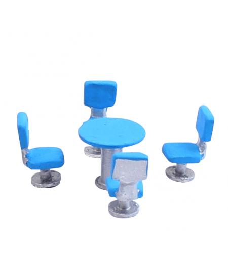 Miniatura de Mesa e Cadeiras 1/100 674 Minitec 05 Peças