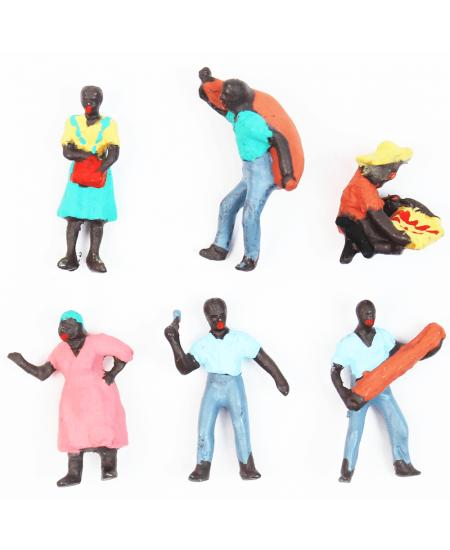 Figuras Para Maquetes 1/100 1602 Minitec 06 Peças