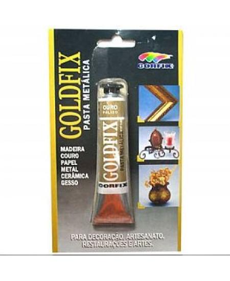 Goldfix Pasta Metálica 20ml Corfix Ouro Pálido
