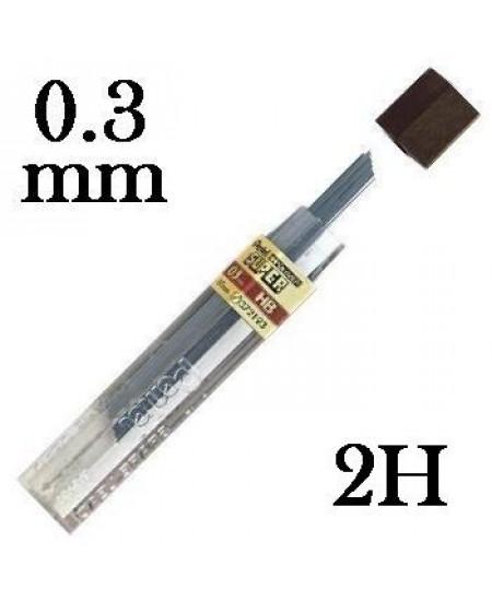 Mina Grafite Pentel 0.3mm 2H