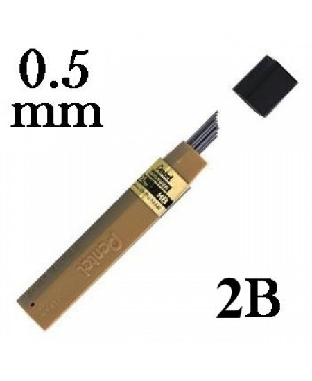 Mina Grafite Pentel 0.5mm 2B