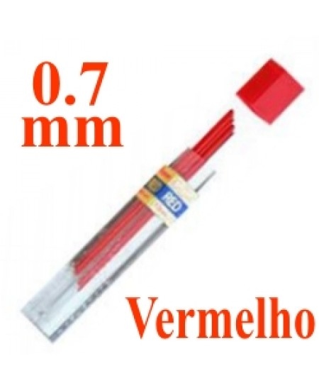 Mina Grafite Pentel 0.7mm Vermelho