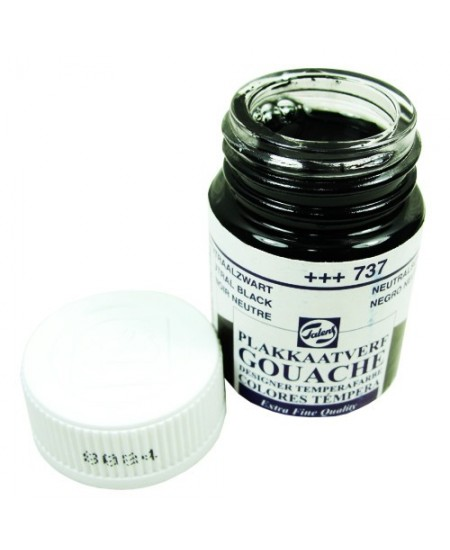 Tinta Guache Para Caligrafia Talens 16ml 737 Neutral Black