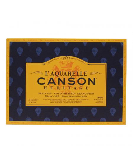 Bloco de Papel Para Aquarela Heritage Canson TF 300g/m² 26x36cm